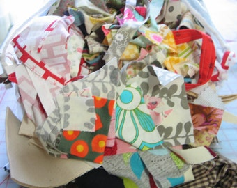 4 LB - Designer fabric Scraps -Remnants-lots of styles and sizes-Tula pink-Tina givens -Moda- Michael Miller Alexander Henry and MORE