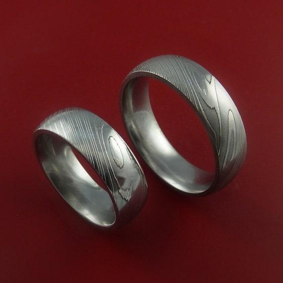 elegant pics of damascus wedding band