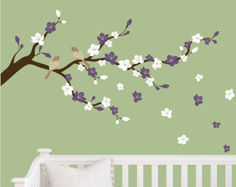 Cherry Blossom Branch Vinyl Wall decal Sticker