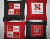 NEBRASKA CORNHUSKERS Cornhole Corn Toss Bean Bag Baggo Bags Set of 8
