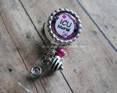 ICU NURSE Retractable Badge Reel