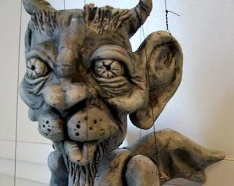 Gargoyle Marionette, hand-made (Made to Order)
