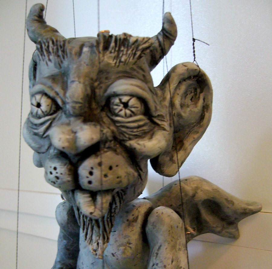 Image Result For Christmas Carol Tiny Tim Puppet: Gargoyle Marionette Hand-made Made To Order