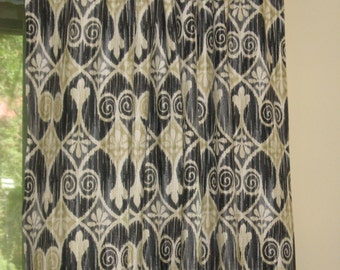 Price Reduced on Ikat Drapery Panels - 50x84 each