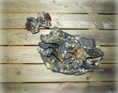 Mossy Oak Camo Ruffled Bloomers and Headband Baby Set - For Sizes Newborn - 24 Months