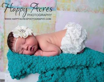 IVORY newborn headband, baby headband, newborn photography prop