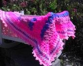 Baby blanket or afghan/ crochet baby blanket/ crib blanket