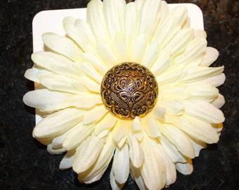 Cream Flower Hair Clip