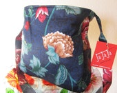 50% Off Sale Floral Tote, Vintage Fabric, Large, Knitting, Market, Diapers