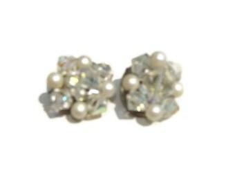 vantiage  earring pearls clip on