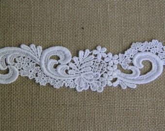 White Venise Lace Applique Bridal