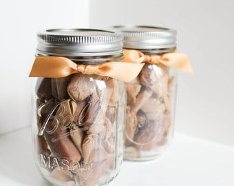 Co-Worker Gifts under 20 - Fleur de Sel Caramels - Set of (2) Half Pound Jars of Caramels