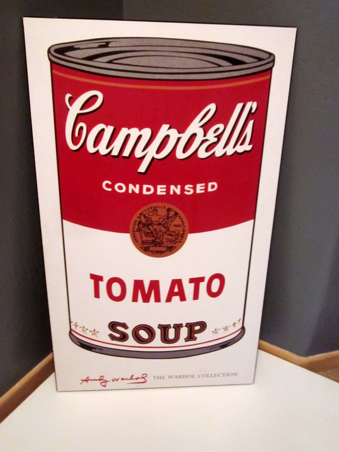 andy warhol campbell 39 s tomato soup can huge by welovelucite. Black Bedroom Furniture Sets. Home Design Ideas