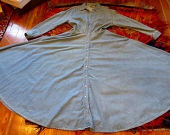 SALE NOW  150  Incredible Donna Karan Vintage Jean Dress, 12