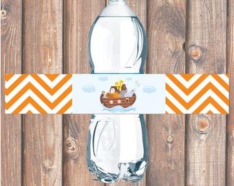 Noah's Ark Printable Water Bottle Labels - INSTANT DOWNLOAD