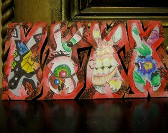 Mixed Media Collage - Bunnies, Butterflys, Teeth and Eyeballs - Artistry to Alchemy