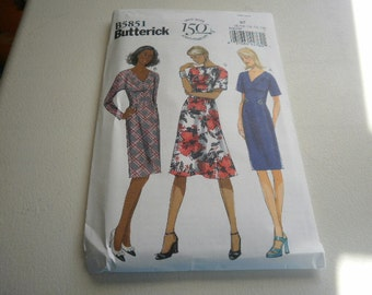 Pattern Ladies Dresses 3 Styles Sizes 8 to 16 Butterick 5851
