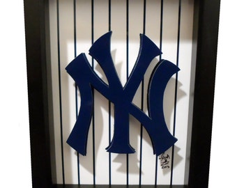 New York Yankees Logo 3D Pop Art NY Baseball Print Artwork City NYC