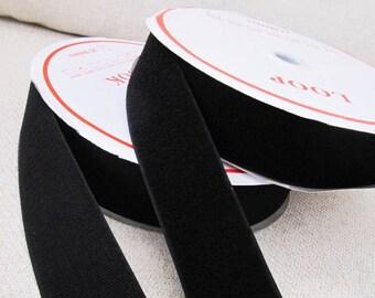 50mm / 2inch Black Velcro - Hoop and Loop - 2meters