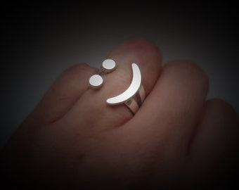 Smile Ring Silver Jewelry Sterling Smile Ring