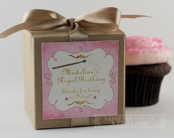 MAGIC WAND - One Dozen Personalized Cupcake Mix Party Favors