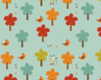 Giraffe Crossing Trees Teal by Riley Blake Designers for Riley Blake, 1/2 yard
