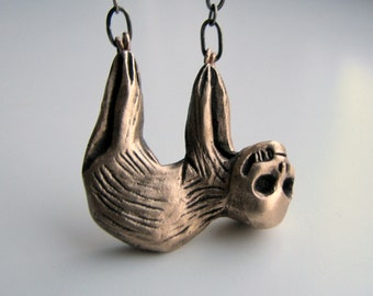 Skully sloth necklace