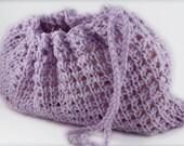 Ballet/Pointe Shoes Bag - Lilac Tunisian Crochet (Mini)