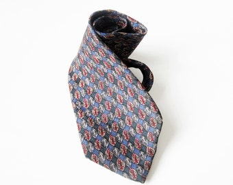 Jerry Garcia Man's Silk Tie-Vintage -Blue Gray and Red