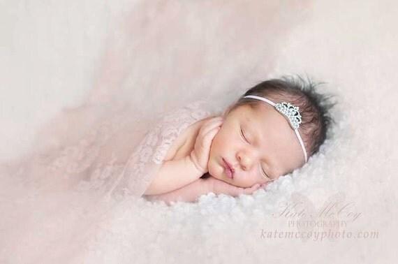Tiara headband, baby headband, crown headband, baby tiara headband, princess headband, christening headband, baptism headband