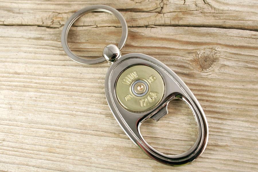 bullet keyring 12 gauge shotgun bottle opener keyring. Black Bedroom Furniture Sets. Home Design Ideas