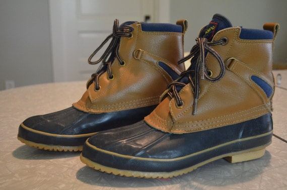vintage sporto duck boots sz 7 by karmadeefa on etsy