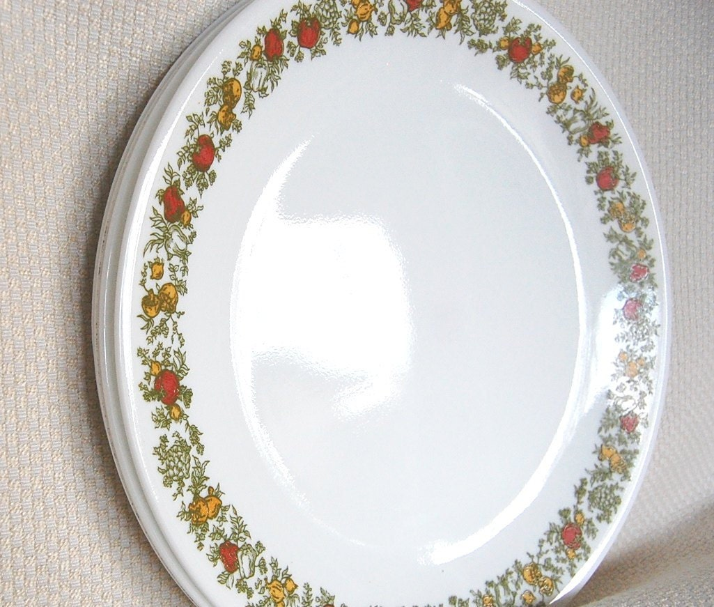 Set Of 4 Vintage Corelle Spice O Life Dinner Plates In