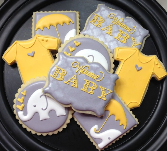 Elephant Baby Shower Sugar Cookie Collection by ...