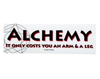Fullmetal Alchemist Anime Bumper Sticker (Alchemy Only Costs you an Arm & a Leg)