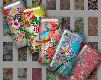 Mini domino digital japanese motifs no 1 instant download butterfly