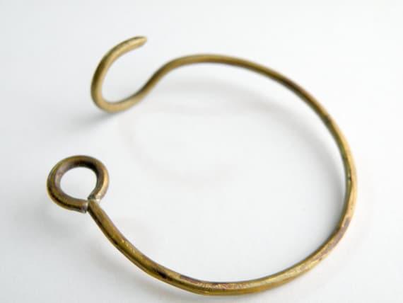 Hook Bracelet, handmade in brass