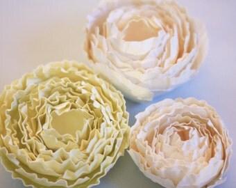 Paper Flower Tutorial - Paper Flower Template, DIY Home Decor