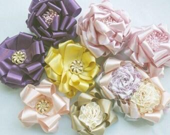 Hair Bow Tutorial, Ribbon Flower Tutorial, DIY Hair Bows, Hair Bow Supplies, How to Make Hair Bows, PDF  Pattern & Tutorial