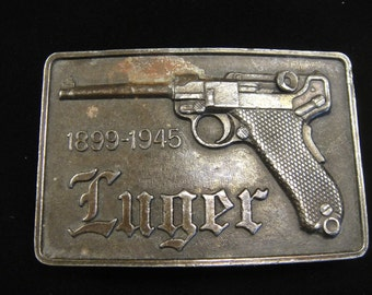 Luger Gun Metal Belt Buckle