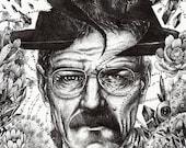 Walt / Heisenberg Original Drawing