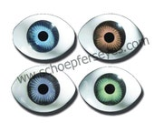 Oval Doll Eyes Great Colors in High Quality Acrylic  - 5 Pair any size and color