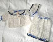 6 Months+ Girls Navy Blue Trimmed Sweater Set