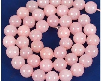 """16"""" Strand of A Rated Genuine (Natural) Rose Quartz Beads (3mm-10mm)"""