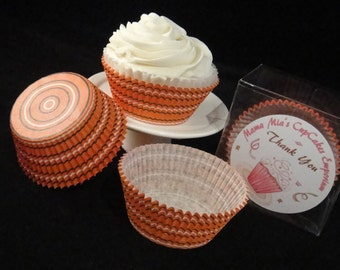 Orange Swirl Cupcake Liners