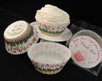 Fancy Clover Cupcake Liners