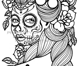 Day Of The Dead Tattoo Flash