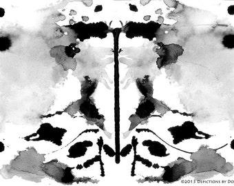 "Poseidon 8"" x 10"" Inkblot From ""Rorschach Unshackled"" Series"