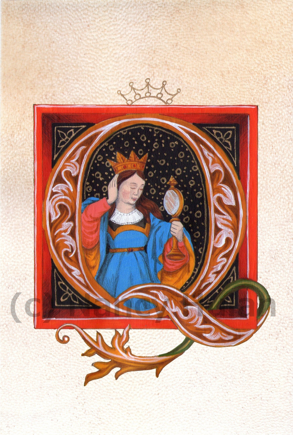 how to make a medieval illuminated manuscript