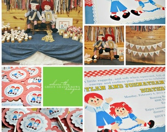 Raggedy Anne and Andy Party Package